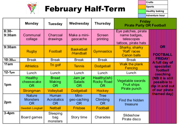 February Half-term 2018